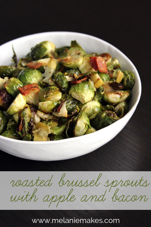 Roasted brussel sprouts with apple and bacon mm